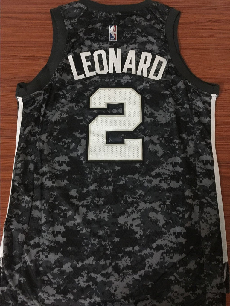 25eaedcfaad ... Men 2 Kawhi Leonard City Jersey Black Navy San Antonio Spurs Fanatics  ...