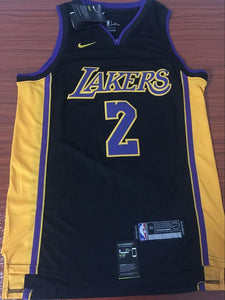 new products 202f5 c0f1a Men 2 Lonzo Ball Jersey Black Los Angeles Lakers Jersey ...
