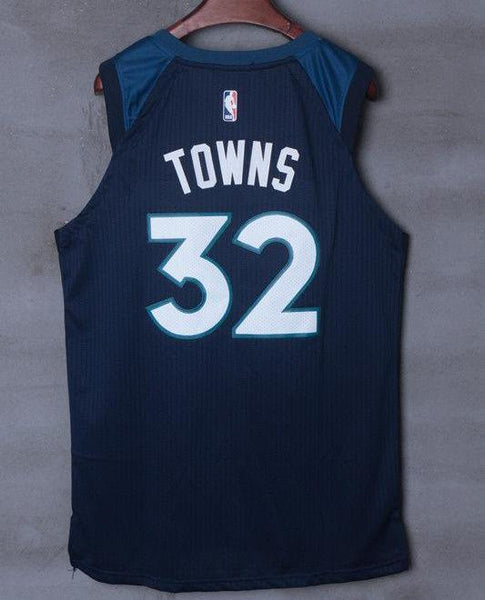 big sale 2cc7c 4d305 Men 32 Karl Anthony Towns Jersey Black Minnesota Timberwolves Jersey Player