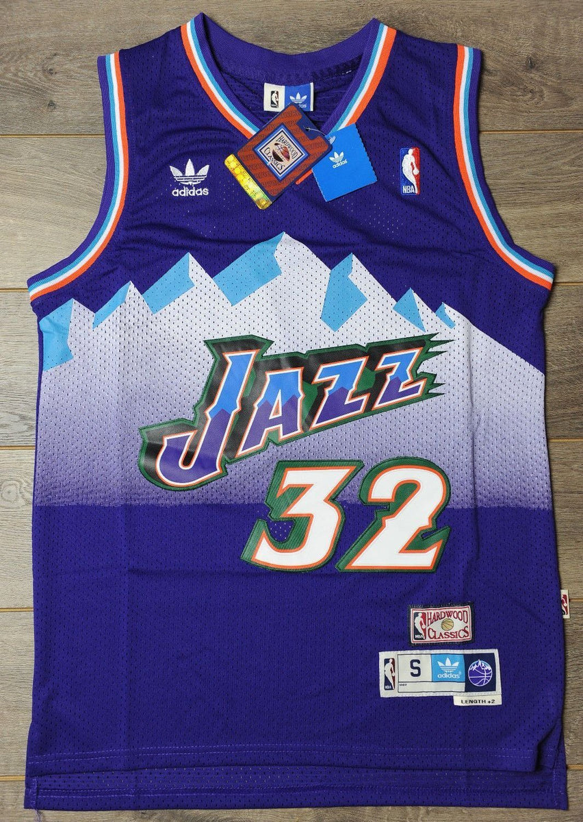 huge selection of 24b04 3ff3b Men 32 Karl Malone Jersey Purple Utah Jazz Jersey Throwback Swingman