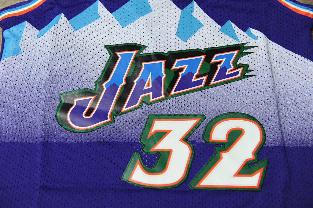 huge discount 51d80 a1f9e Men 32 Karl Malone Jersey Purple Utah Jazz Jersey Throwback ...