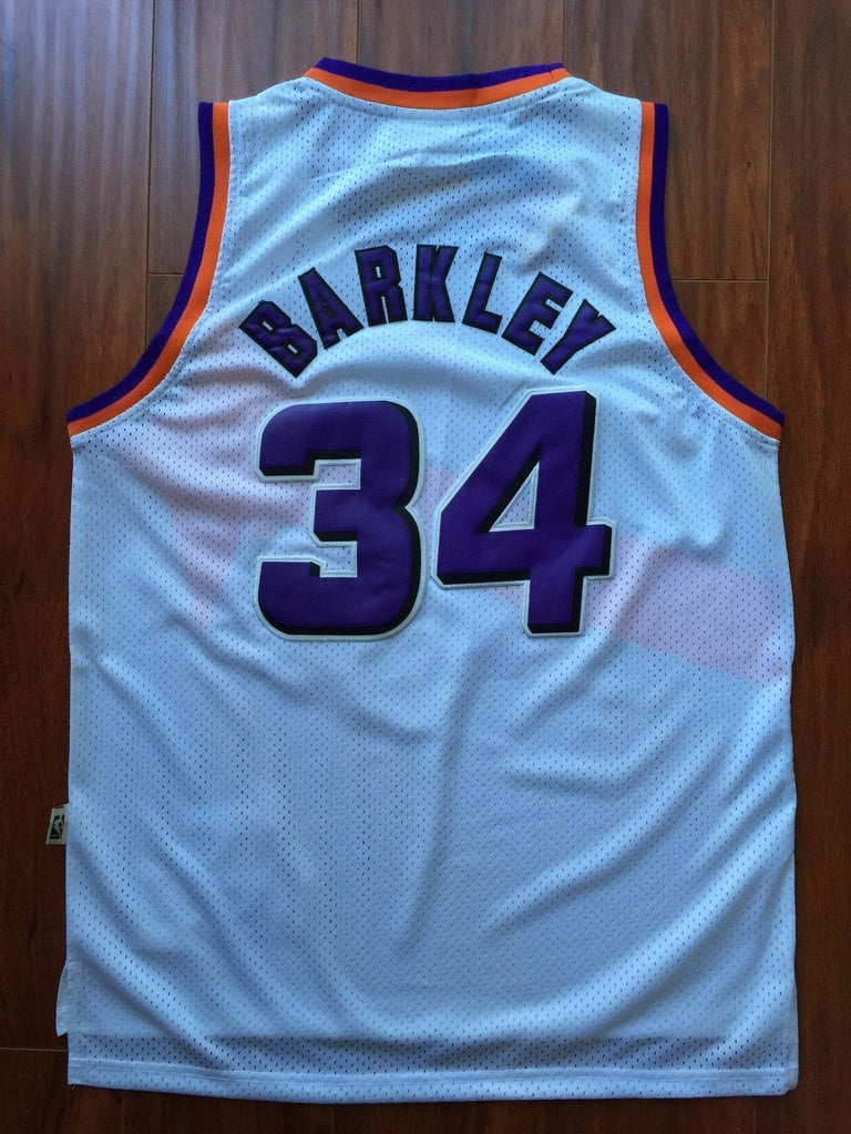 timeless design 2320a a52c3 Men 34 Charles Barkley Jersey White Phoenix Suns Swingman ...