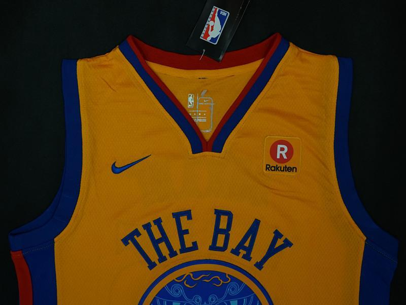 sale retailer fd8ba 390b1 Men 35 Kevin Durant Jersey Yellow The Bay Golden State Warriors City Edition