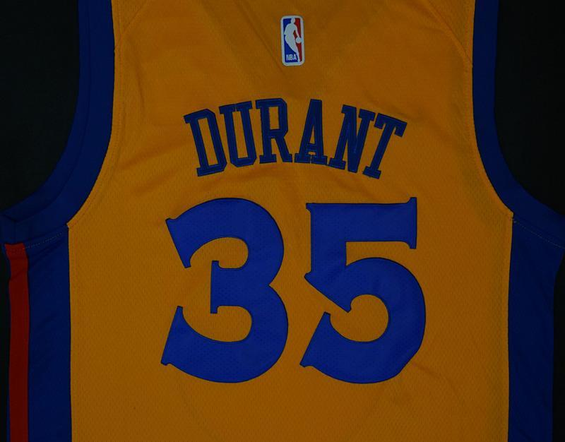 3e6b1fdda ... Men 35 Kevin Durant Jersey Yellow The Bay Golden State Warriors City  Edition