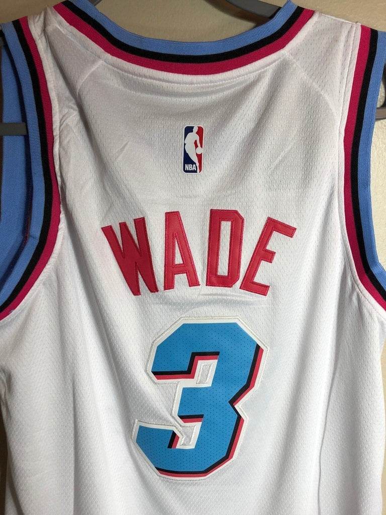 the best attitude 70f2f 4e64a Men 3 Dwyane Wade City Jersey White Miami Heat jersey Fanatics Swingman