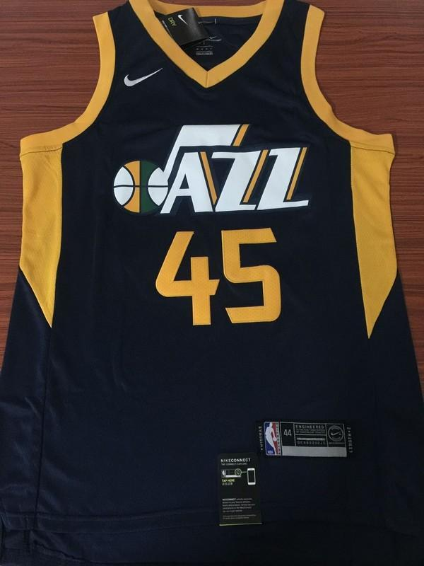 483763fcc69a Men 45 Donovan Mitchell Utah Jazz Jersey Navy Blue Fanatics Swingman ...