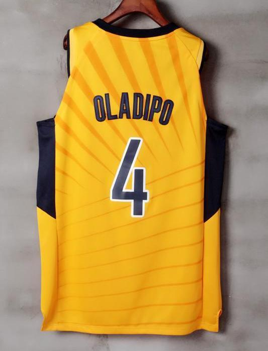Men 4 VICTOR OLADIPO Jersey Yellow Gold Indiana Pacers Jersey Player ... 32d03ca7e