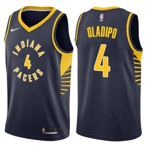 newest 2b811 575c3 Men 4 VICTOR OLADIPO Jersey Black Indiana Pacers Jersey Fanatics