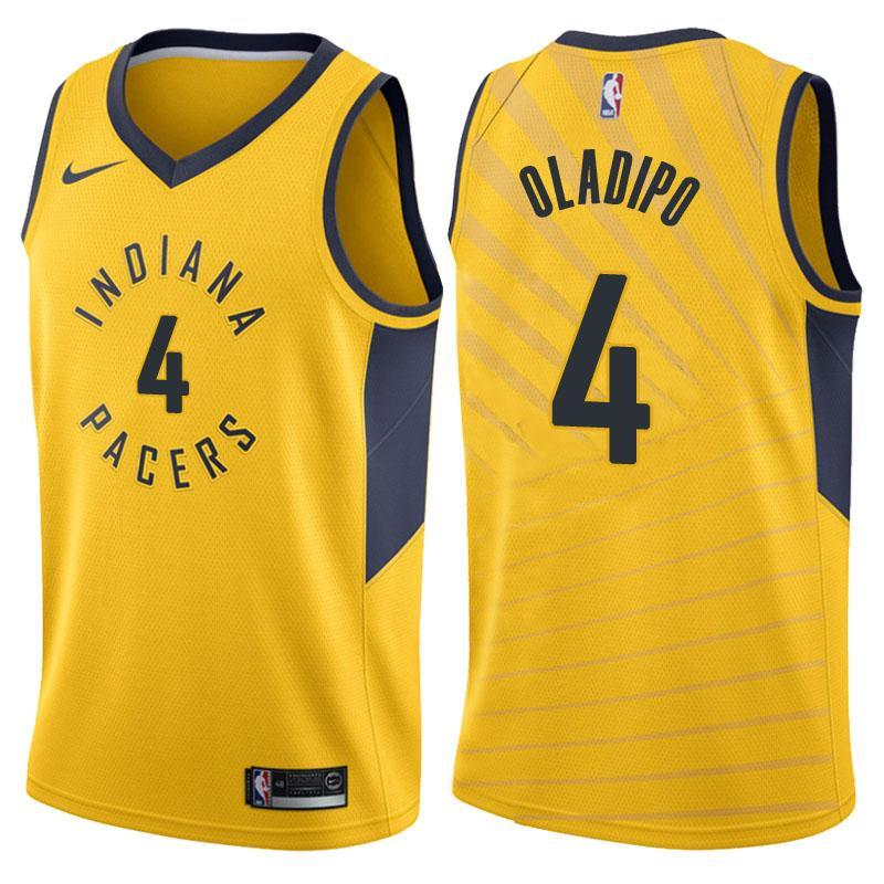 a7b377a7fc6 Men 4 VICTOR OLADIPO Jersey Yellow Indiana Pacers Jersey Fanatics ...
