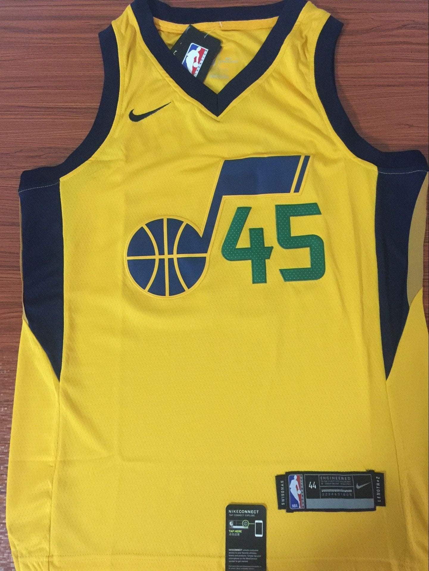 hot sale online c95db 95623 Men 45 Donovan Mitchell Utah Jazz Jersey Yellow Swingman Fanatics