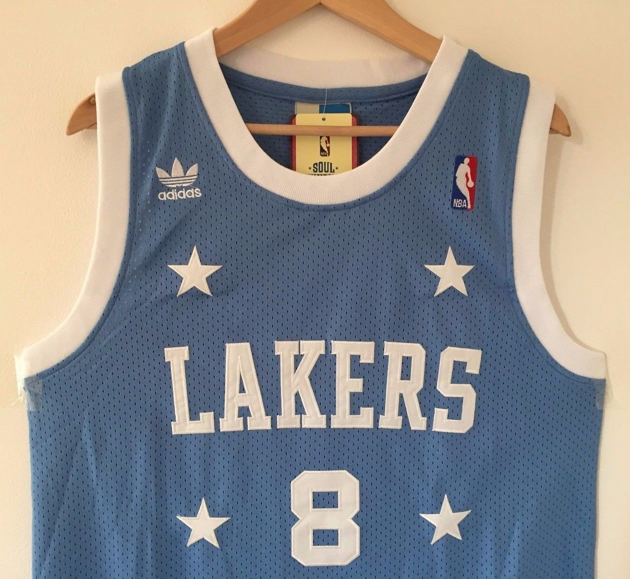 best loved c585d cb4b3 Men 8 Kobe Bryant Jersey Light Blue Los Angeles Lakers ...