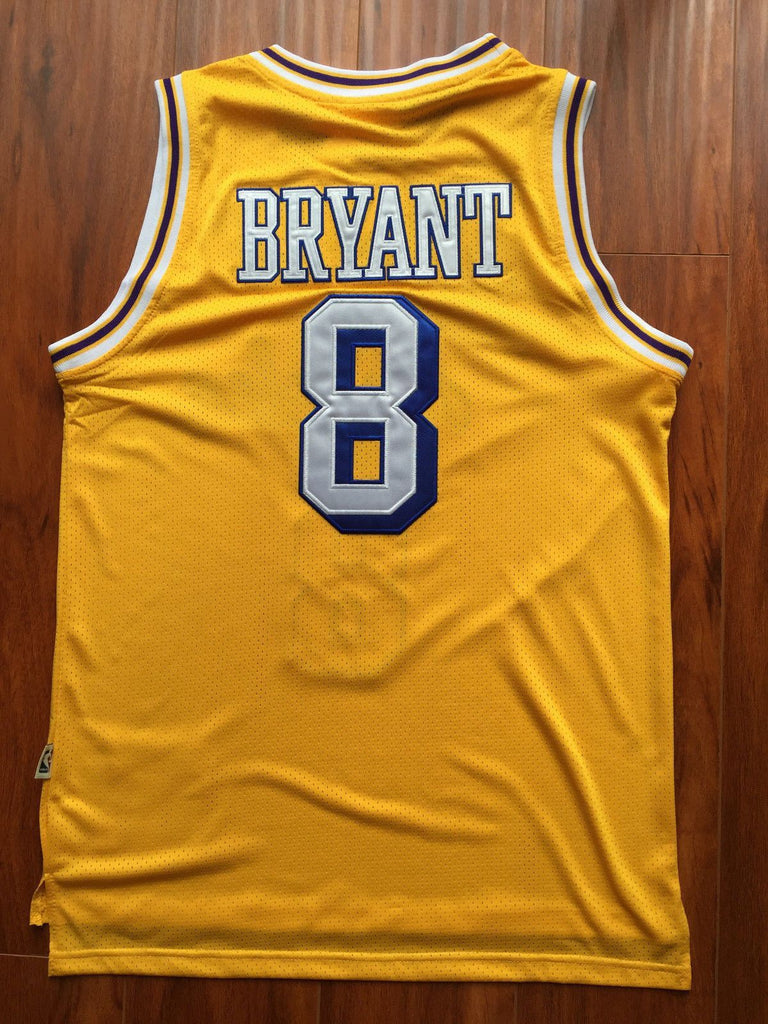495e3f2d3 ... Men 8 Kobe Bryant Jersey Yellow Christmas Los Angeles Lakers Swingman  Jersey ...