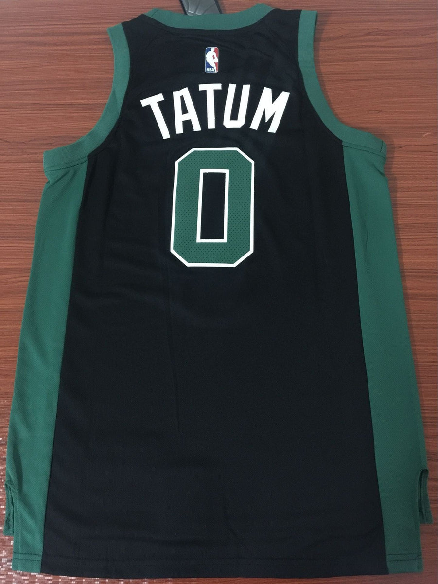 official photos a8830 4a855 Men 0 Jayson Tatum Jersey Black Boston Celtics Jersey Fanatics Swingman