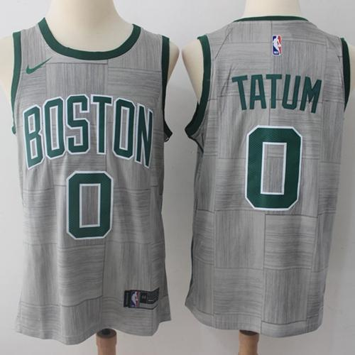 finest selection 41abf cce1c Men 0 Jayson Tatum Jersey City Edition Gray Boston Celtics Jersey Fanatics