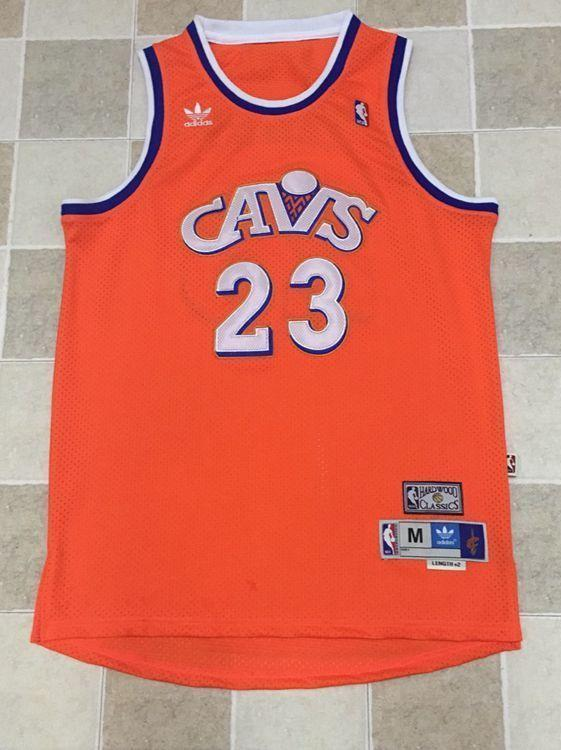 half off 62d51 3c80c Men 23 Lebron James Jersey Orange Cleveland Cavaliers Swingman Jersey
