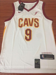 newest 87aaf 0f2e5 Men CAVS 9 Dwyane Wade Jersey White Cleveland Cavaliers Fanatics Icon  edition