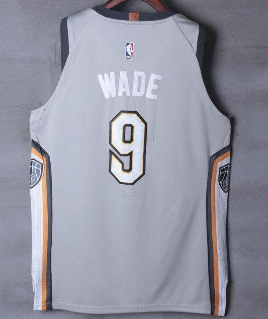 finest selection 38ba3 b15df Men 9 Dwyane Wade Jersey Gray the Land Cleveland Cavaliers City Player
