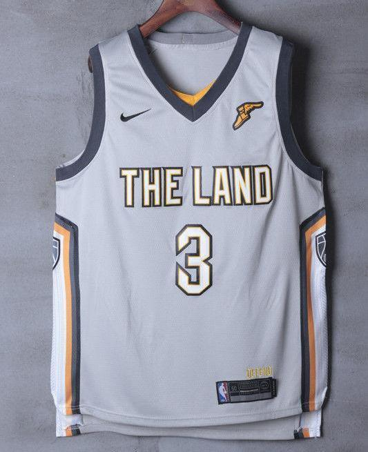 low priced cbe8d 09c4a Men 3 Isaiah Thomas Jersey the Land Gray Cleveland Cavaliers Jersey City  Edition