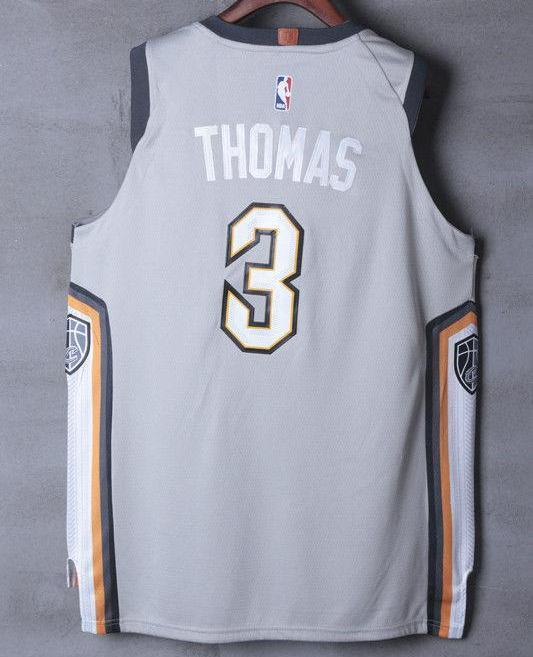 19394e53729 ... Men 3 Isaiah Thomas Jersey the Land Gray Cleveland Cavaliers Jersey  City Edition ...