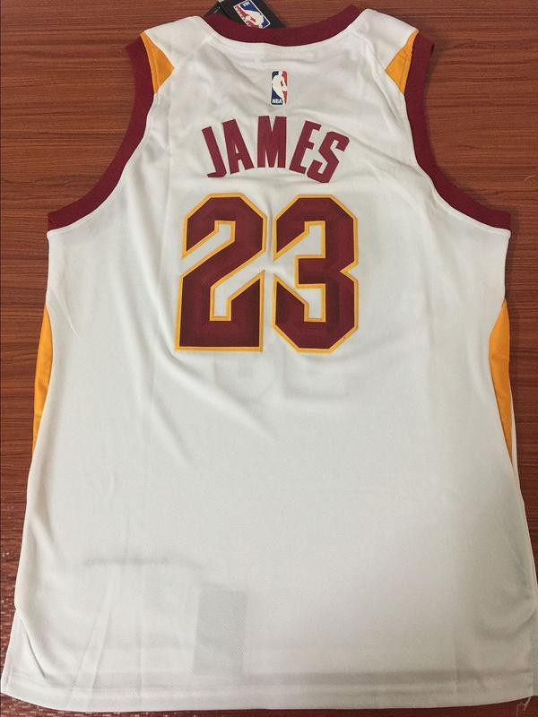 more photos c8cee d20cf Men CAVS 23 Lebron James Jersey White Cleveland Cavaliers Jersey Fanatics