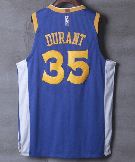 best website e8526 82076 Men GSW 35 Kevin Durant Jersey Blue Golden State Warriors Player