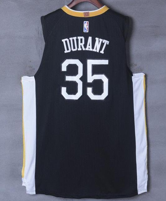 official photos c606e e1622 Men 35 Kevin Durant the Town Jersey Black Golden State Warriors Player