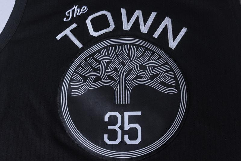3f7dcb40b ... Men 35 Kevin Durant the Town Jersey Black Golden State Warriors Player  ...