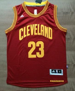 2132eb8f9 Men CAVS 23 Lebron James Swingman Jersey Red Cleveland Cavaliers Jersey