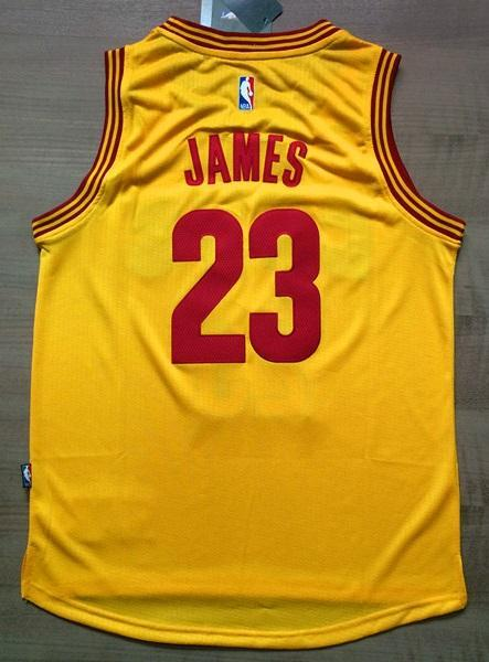 finest selection 7cb9c f6be6 Men CAVS 23 Lebron James Swingman Jersey Yellow Cleveland Cavaliers Jersey