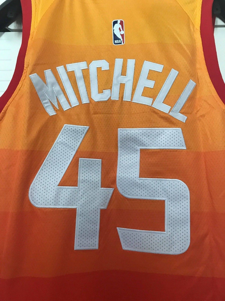 huge discount 162d6 0017f Men 45 Donovan Mitchell Jersey City edition Yellow Orange ...