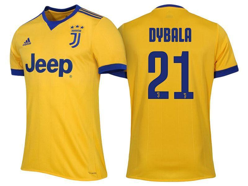 new style ab452 551a4 Men 21 Paulo Dybala Jersey Away Soccer Juventus Jersey 2018 Serie A