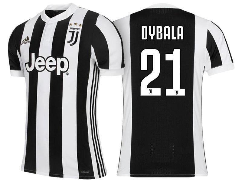 promo code 7ac29 651b2 Men 21 Paulo Dybala Jersey Home Soccer Juventus Jersey 2018 Serie A
