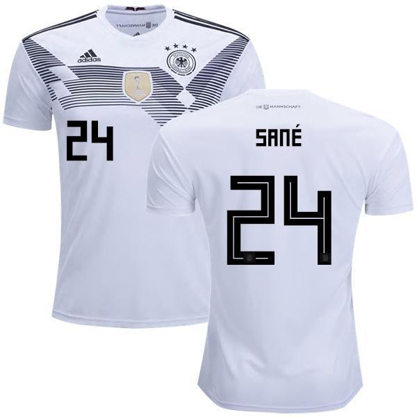 huge selection of 2cfff 87b0a Men #24 Sane Jersey Home Germany National 2018 FIFA World Cup