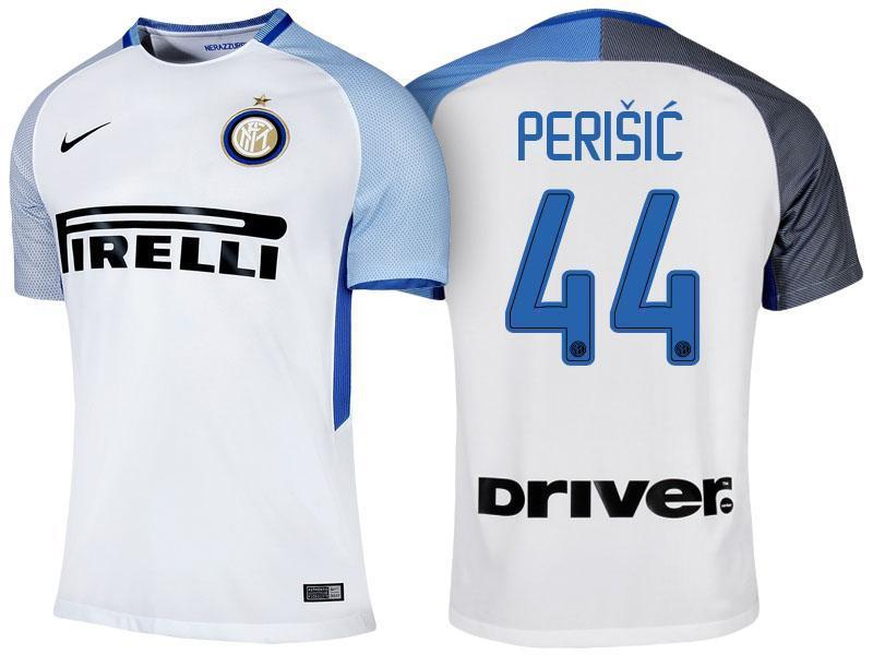 quality design c6d88 e5946 Men 44 Ivan Perisic Jersey Away Soccer Inter Milan FC Jersey 2018 Serie A