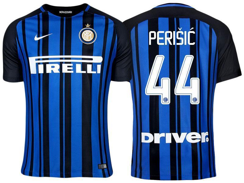 low priced 94681 5c2a8 Men 44 Ivan Perisic Jersey Home Soccer Inter Milan FC Jersey 2018 Serie A