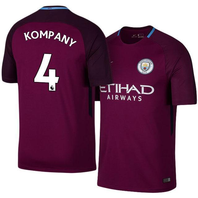 best cheap e1879 54cf1 Men 4 Vincent Kompany Jersey Away Soccer Manchester City Jersey Premier  League