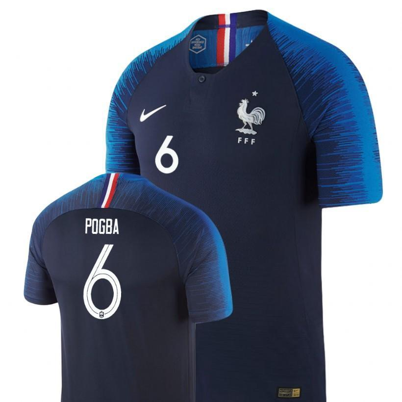 on sale 24c07 f4276 Men #6 Paul Pogba Jersey Blue France National 2018 FIFA World Cup