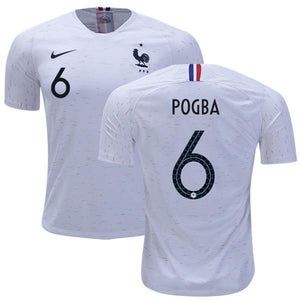 02a0ed47a Men  6 Paul Pogba Jersey White France National 2018 FIFA World Cup ...