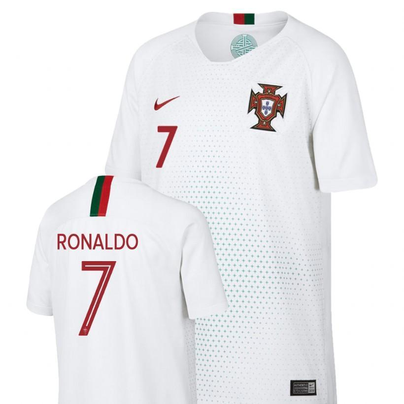 timeless design 1afb9 13584 Men #7 Cristiano Ronaldo Jersey Away Portugal National 2018 FIFA World Cup