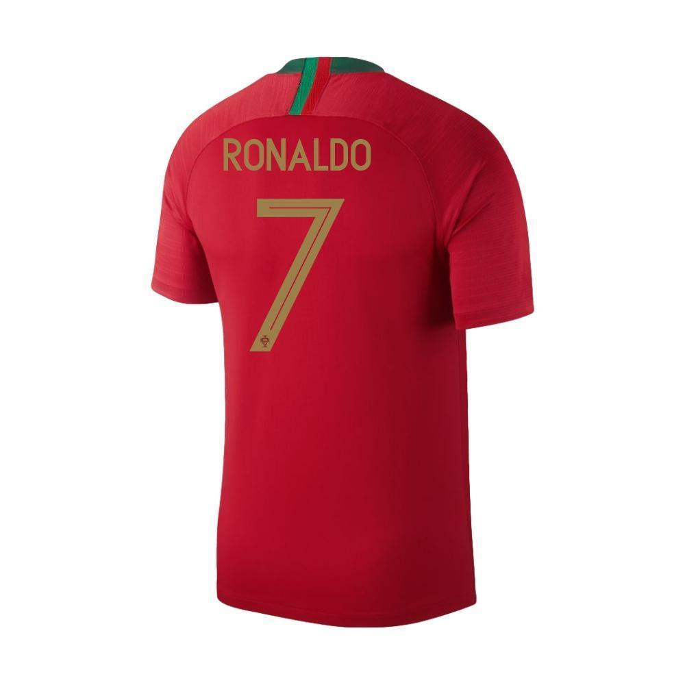 new styles 883df 80922 Men #7 Cristiano Ronaldo Jersey Home Portugal National 2018 FIFA World Cup