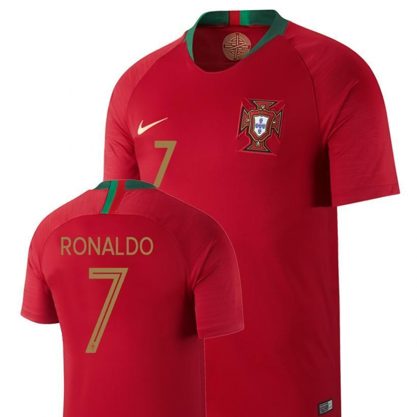 new styles a27c1 1b18a Men #7 Cristiano Ronaldo Jersey Home Portugal National 2018 FIFA World Cup
