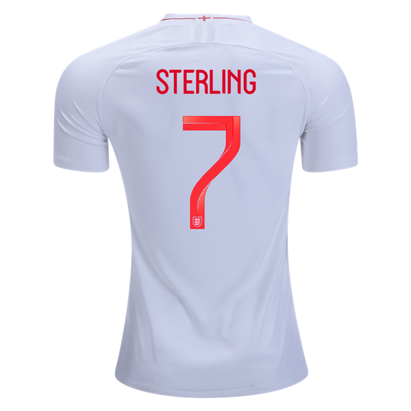 premium selection f3e50 d6685 Men #7 Sterling Jersey Home England National 2018 FIFA World Cup