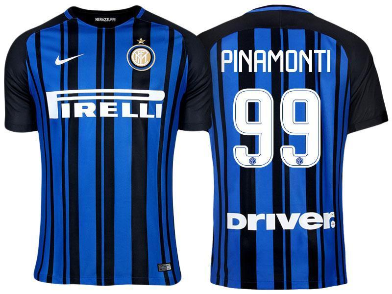 new photos 2028e 58fc5 Men 99 Andrea Pinamonti Jersey Home Soccer Inter Milan FC Jersey 2018 Serie  A