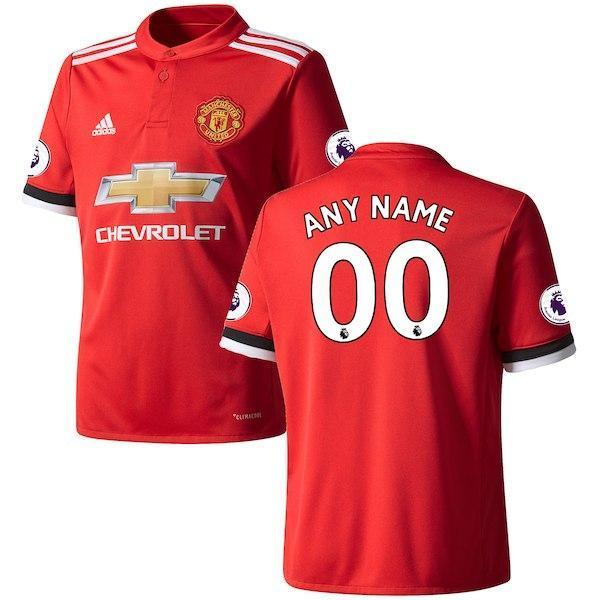 huge selection of c1798 8658d Men Anyname Jersey Soccer Manchester United Jersey 2018 Premier League