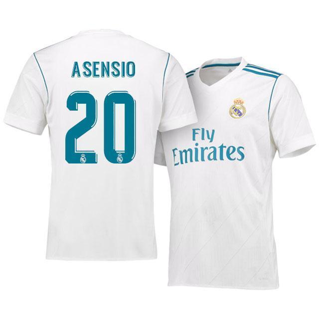 hot sale online caa75 739e7 Men 20 Marco Asensio Jersey Soccer Real Madrid Jersey 2018 LaLiga