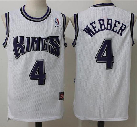 f02f3cfb Men Chris Webber Jersey White Sacramento Kings Throwback Swingman – nRevo