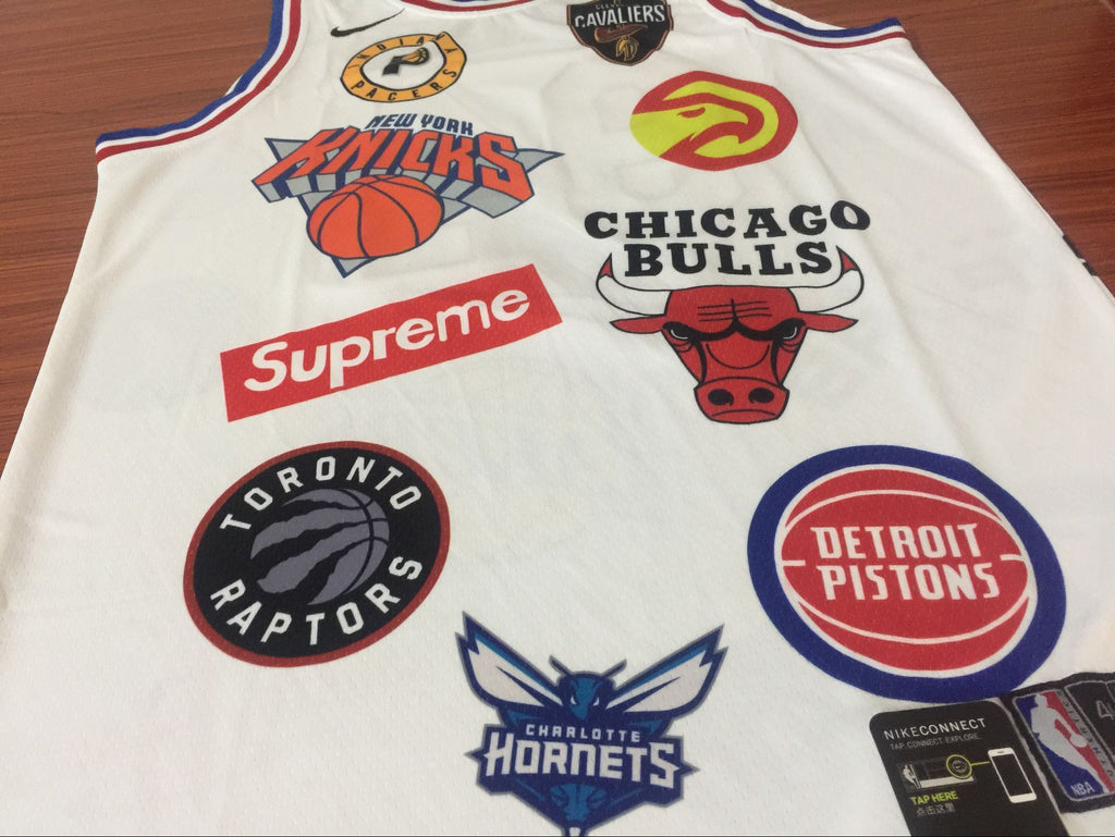 release date: 9293b 4a321 94 SUPREME X NIKE Jersey NBA Jersey IN WHITE Jersey Player ...