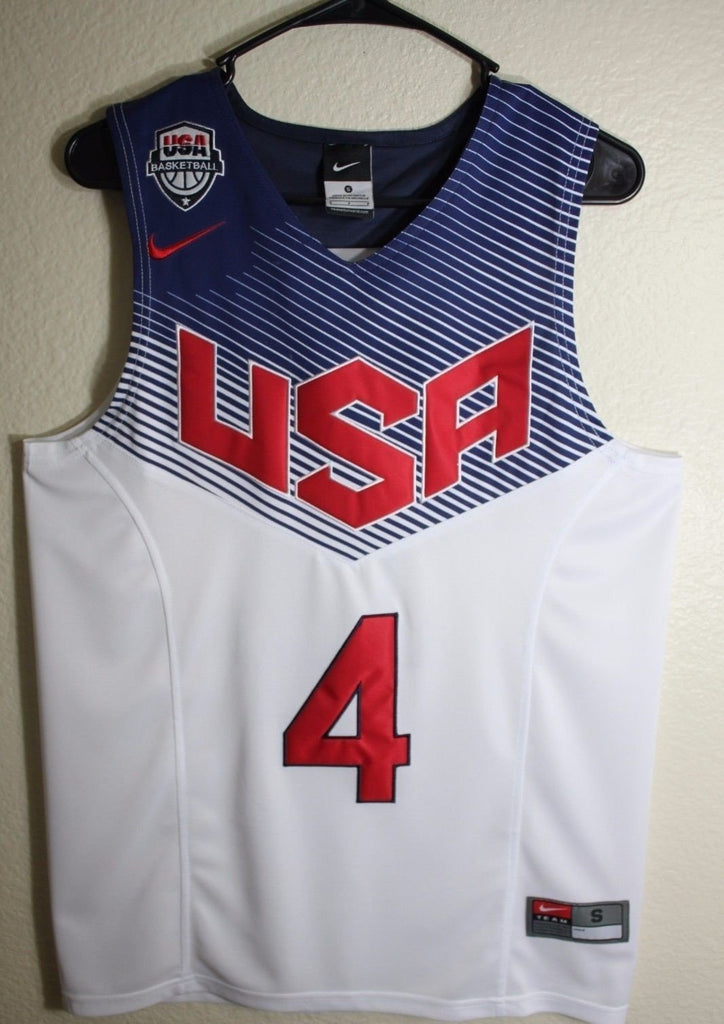 check out 8e7ee 0fae6 Men 4 Stephen Curry Jersey White USA Dream Team Swingman Jersey