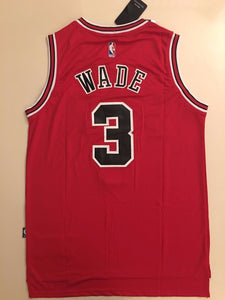 best service 8596a 1b2f4 Men 3 Dwyane Wade Jersey Red Chicago Bulls jersey Throwback Swingman