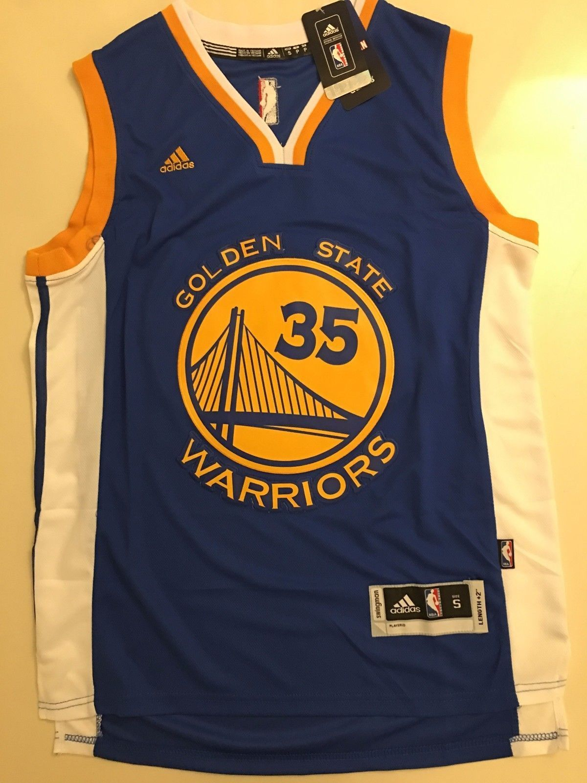 sports shoes 4f56b 67ba7 Men GSW 35 Kevin Durant Jersey Blue Golden State Warriors Jersey